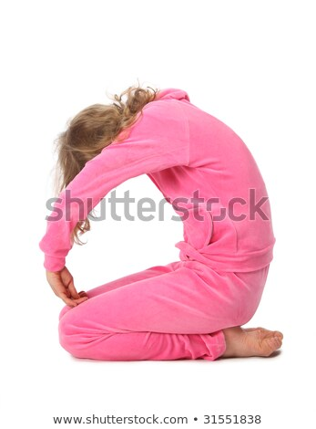 girl in pink clothes represents letter o stock photo © paha_l