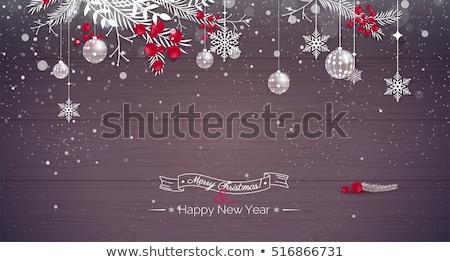 Abete rosso rami legno fiocchi di neve Natale neve Foto d'archivio © Valeriy
