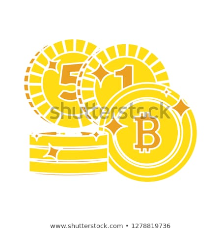 bit coin glossy vector icon design stock photo © rizwanali3d