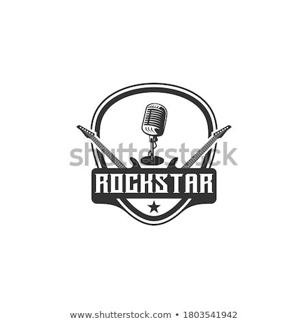 Vector of rockstar singing on mike. Stock photo © Morphart