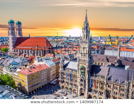 Aerial view of Marienplatz in Munich Stock photo © AndreyKr