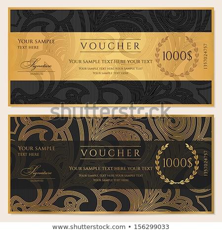 ヴィンテージ 黒 ギフト券 飾り パターン ストックフォト © liliwhite