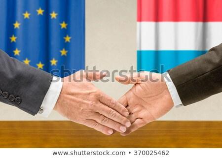 Евросоюз Люксембург руками рук стороны заседание Сток-фото © Zerbor