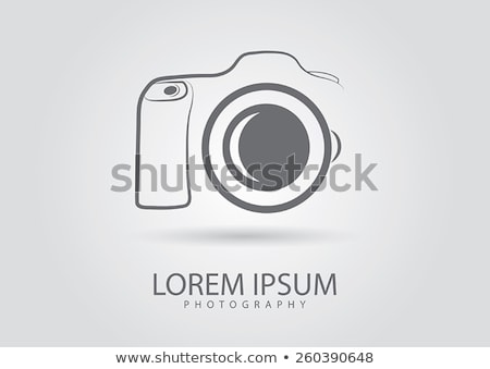 abstract camera logocamera icon in vector format stock photo © mcherevan
