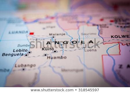 アンゴラ 国 地図 赤 コンセプト フォーカス ストックフォト © alex_grichenko
