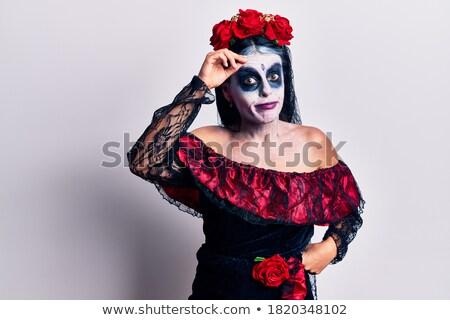 aggódó · menyasszony · fiatal · gyönyörű · nő · izolált · mosoly - stock fotó © lightpoet