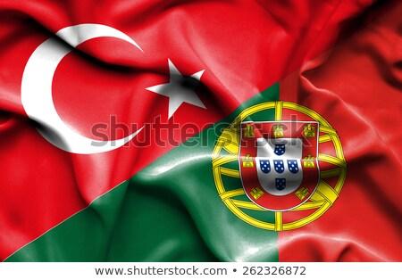 Turquía Portugal banderas rompecabezas aislado blanco Foto stock © Istanbul2009
