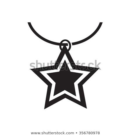 ожерелье икона иллюстрация дизайна любви женщины Сток-фото © kiddaikiddee