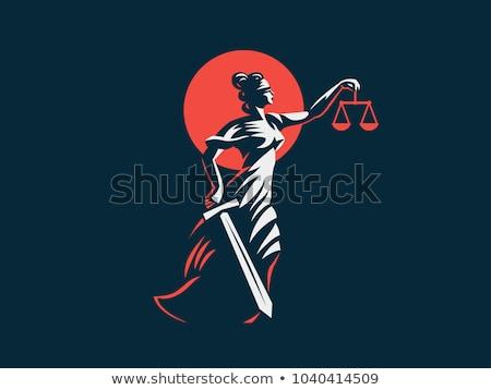 ギリシャ語 正義 マホガニー 木製 小槌 ストックフォト © Stocksnapper