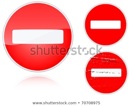 Set of variants no entry road sign Stock photo © boroda