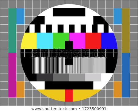 Televizyon renk test model örnek film Stok fotoğraf © get4net
