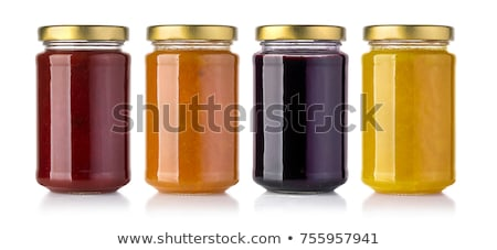 Jar albaricoque atasco maduro frutas Foto stock © filipw