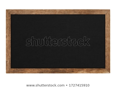 wood blackboard isolated on white with clipping path  Stock photo © smuay