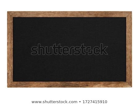 Hout Blackboard geïsoleerd witte paal Stockfoto © smuay