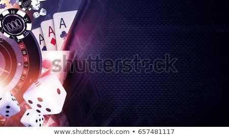 Kasyno zielone karty symbolika świetle podpisania Zdjęcia stock © oxygen64