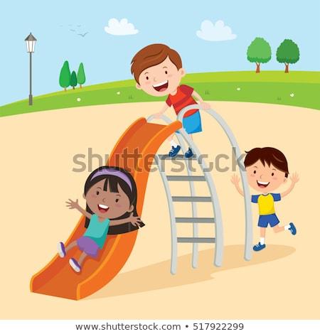 Girl on Slide Stock photo © FOTOYOU