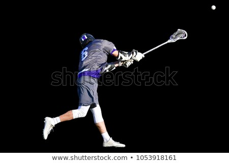 Lacrosse player with net stick Stock photo © bluering