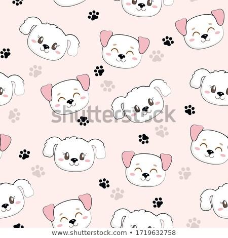 ストックフォト: シームレス · 多くの · 動物 · 実例 · 犬 · 魚