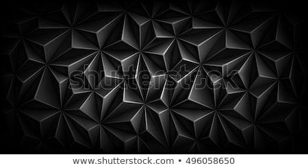 Koyu gri çokgen soyut üçgen stok vektör Stok fotoğraf © punsayaporn
