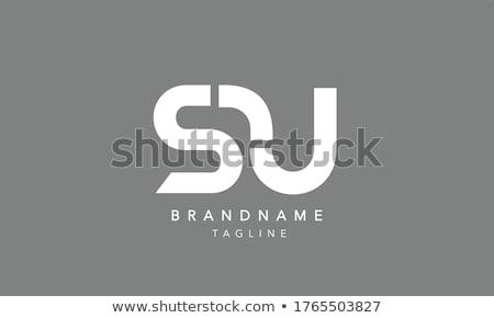 mektup · logo · vektör · modern · siyah · renk - stok fotoğraf © krustovin