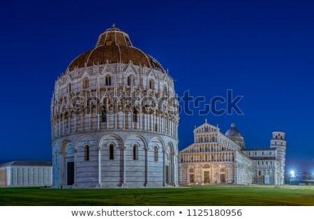Baptistry, the Duomo and Leaning Tower of Pisa at night Stock photo © Digifoodstock