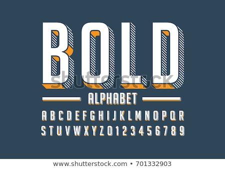 Big letters of the alphabet Stock photo © bluering