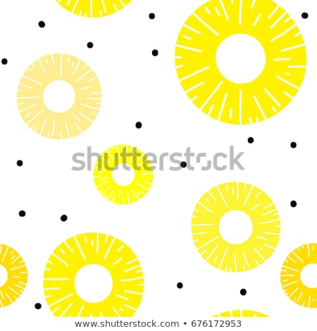 tropical vector pattern of pineapples and slices stock photo © adrian_n