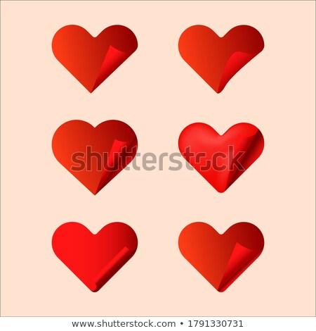 ayarlamak · hacim · kalpler · aşıklar · siluet · çift - stok fotoğraf © AlonPerf