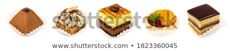 caju · nozes · caixa · topo · ver - foto stock © racoolstudio