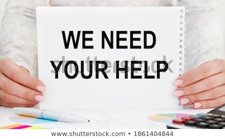 Help text on notepad Stock photo © fuzzbones0