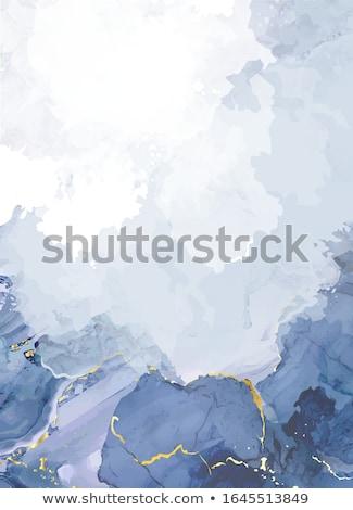 Grijs inkt illustratie witte verf kunst Stockfoto © bluering