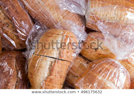 Bags of fresh sliced bread for a food drive Stock photo © ozgur