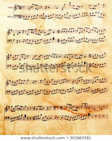 vintage music sheet stock photo © unkreatives