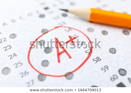 test grade stock photo © alphababy