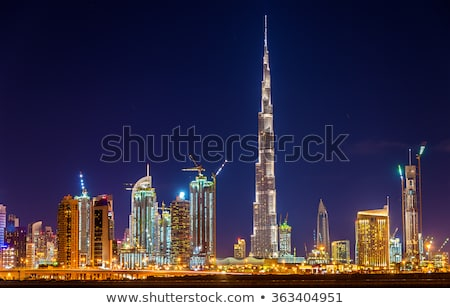 Skyline · centre-ville · Dubaï · burj · khalifa · fontaine - photo stock © anna_om