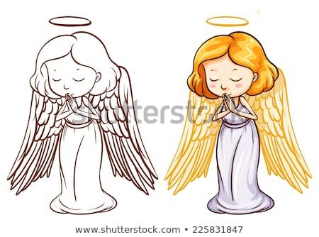 anioł · kobieta · dove · dziewczyna · moda · świetle - zdjęcia stock © bluering
