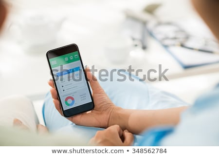 Application for diabetes on smartphone Stock photo © simpson33