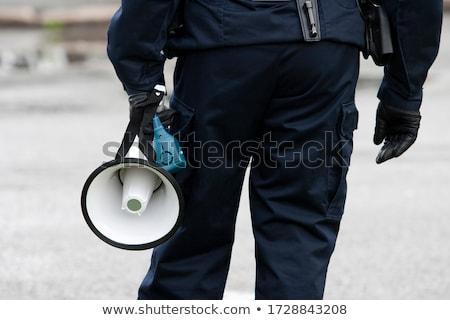 Polis görev polis memuru güvenlik tabanca iş Stok fotoğraf © wellphoto
