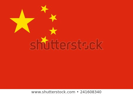 China Flag. Original proportion and colors. High quality Stock photo © JeksonGraphics