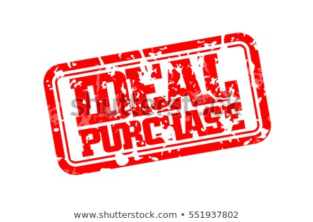 Ideal purchase rubber stamp Stock photo © IMaster