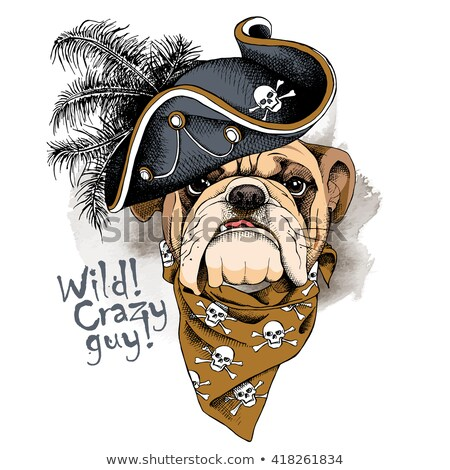 Bulldog portrait vecteur mascotte design 10 Photo stock © sdCrea