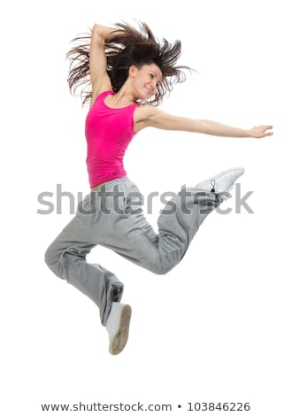 Teenage Girl Leaping In Studio Stock photo © monkey_business