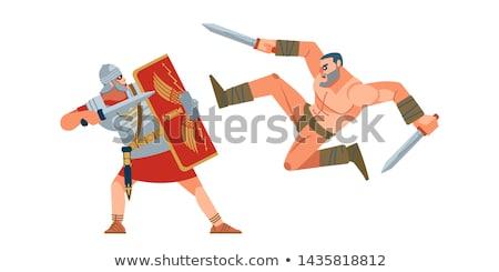 battle sword medieval stock vector illustration Stock photo © konturvid