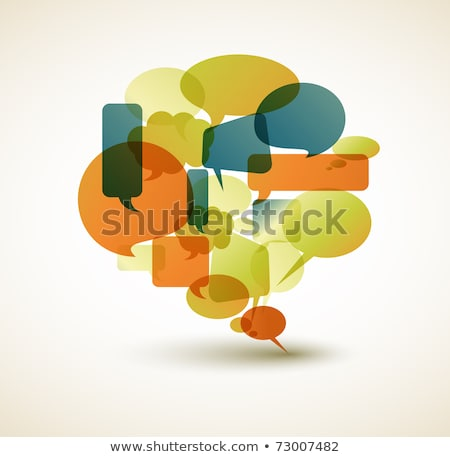 retro speech bubble made from small bubbles stock photo © orson