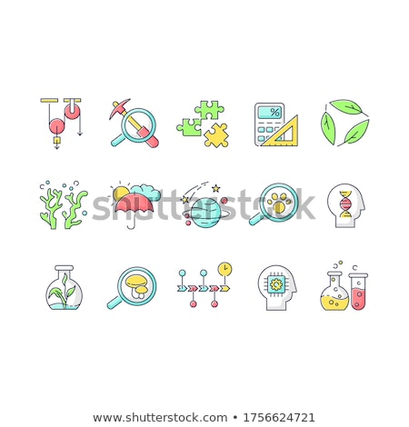 Science icons for different fields of studies Stock photo © bluering