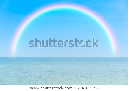 Nice seascape with rainbow Stock photo © kayros