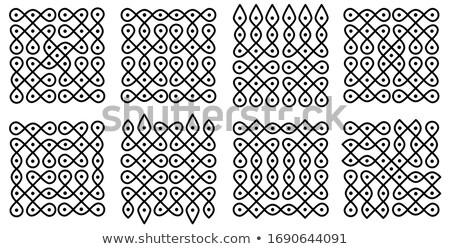 happy diwali wallpaper with paisley pattern Stock photo © SArts