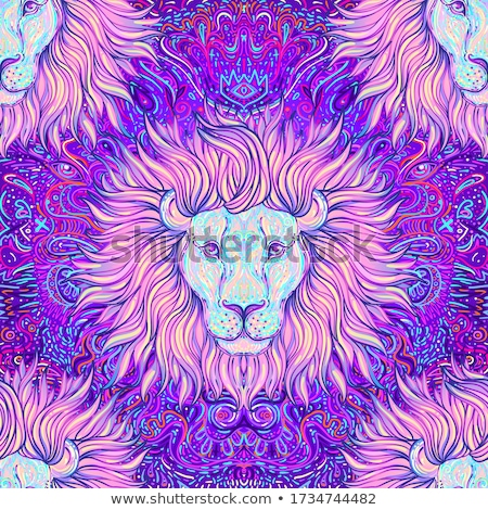 lion head seamless pattern stock photo © andrei_