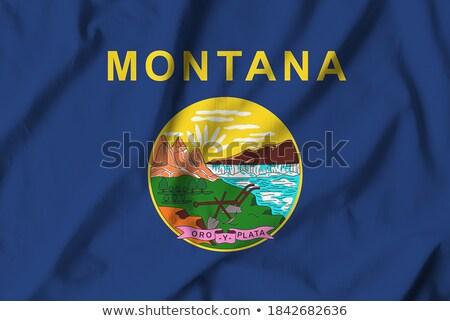 usa state montana flag on white background stock photo © tussik