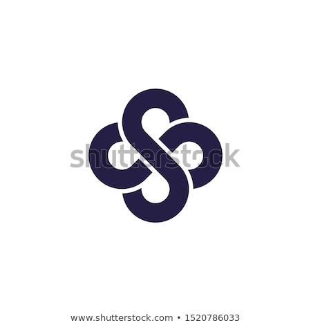 Carta monograma logotipo elegante estilo abstrato Foto stock © SArts